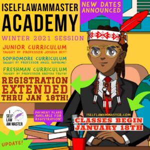 ISelfLawAmMaster Academy Winter 2021 Open Enrollment