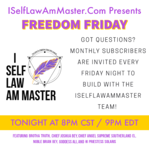 FREEDOM FRIDAYS @ Private Conference Link sent weekly to active monthly subscribers