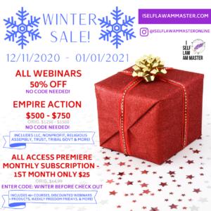 WINTER SALE! Dec 11th - Jan 1st