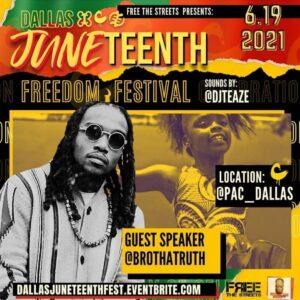 Juneteenth Freedom Festival (Dallas, TX) @ PAC, Dallas TX